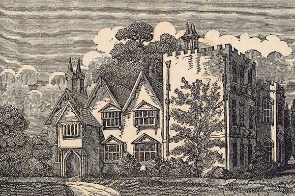 """Masham's residence """"Otes House,"""" 1821"""