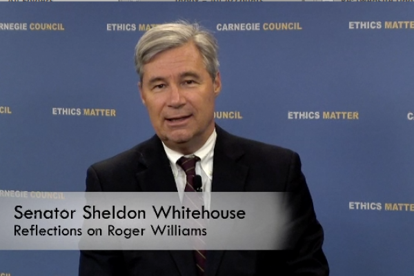 US Senator for RI, Sheldon Whitehouse reflects on Roger Williams