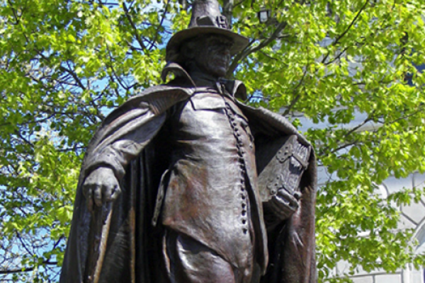 "Statue of ""The Puritan"""