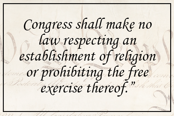 What is the (No) Establishment Clause?