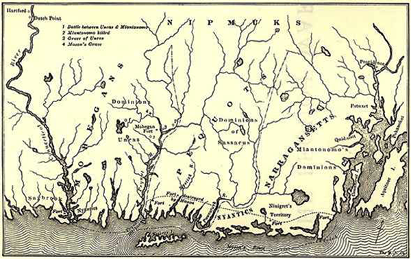 Pequot War battle sites