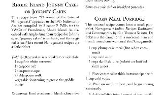 Traditional Narragansett Recipes