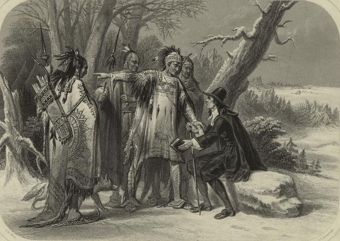 Roger Williams with Native Americans